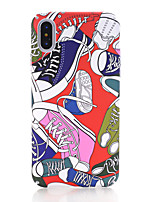 preiswerte -Hülle Für Apple iPhone X iPhone 8 Im Dunkeln leuchtend Mattiert Muster Rückseite Cartoon Design Hart PC für iPhone X iPhone 8 Plus iPhone