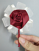 "cheap -Wedding Flowers Boutonnieres Wedding Event/Party Satin 4.33""(Approx.11cm)"