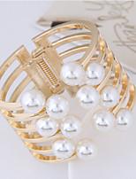abordables -Femme Manchettes Bracelets Perle imitée Européen Bijoux Fantaisie Alliage Balle Bijoux Soirée