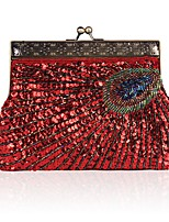 cheap -Women's Bags Polyester Evening Bag Beading for Wedding Event/Party All Seasons Red Purple Fuchsia Coffee Gray Green