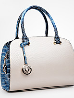 cheap -Women's Bags PU Tote Embossed for Casual Office & Career All Seasons Blue White Black