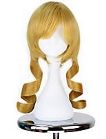 cheap -Cosplay Wigs Puella Magi Madoka Magica Tomoe Mami Anime Cosplay Wigs 45 CM Heat Resistant Fiber Unisex
