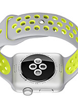 economico -Cinturino per orologio  per Apple Watch Series 3 / 2 / 1 Apple Cinturino sportivo Silicone Custodia con cinturino a strappo