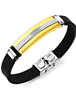 cheap -Men's Bangles ID Bracelet , Fashion Cool Stainless Steel Line Jewelry Daily Going out Costume Jewelry