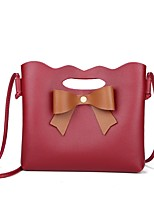 cheap -Women's Bags PU Shoulder Bag Bow(s) for Shopping Casual All Seasons Blue Black Red Blushing Pink Dark Grey