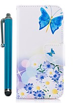 cheap -Case For Samsung Galaxy J7 (2017) J5 (2017) Card Holder Wallet with Stand Flip Magnetic Full Body Cases Butterfly Flower Hard PU Leather