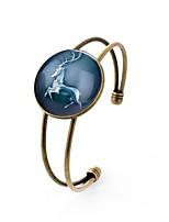 preiswerte -Herrn Damen Manschetten-Armbänder , Mehrfarbig Hip-Hop Glas Aleación Kreisform Schmuck Karnival Büro & Karriere Modeschmuck