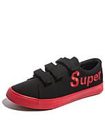 Недорогие -Муж. обувь Полотно Весна Осень Удобная обувь Кеды для Повседневные Черный Черно-белый Черный/Красный