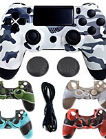 abordables -gamepad inalámbricos del joystick del regulador del gamepad del regulador del bluetooth con la caja del silicón para ps4