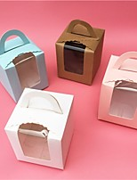 cheap -Square Shape Card Paper Favor Holder with Pattern / Print Favor Boxes - 1pc