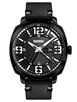 abordables -SKMEI Hombre Reloj de Moda Chino Cuarzo Calendario Resistente al Agua PU Banda Lujo Casual Cool Negro