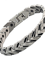 cheap -Men's Chain Bracelet Hologram Bracelet , Magnetic Casual Steel Titanium Circle Jewelry Causal Daily