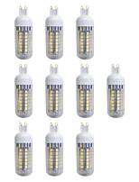cheap -10pcs 5W 420 lm G9 LED Corn Lights 48 leds SMD 5050 LED Light Warm White AC 220-240V