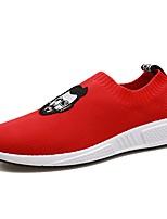 Недорогие -Муж. обувь Тюль Весна Осень Удобная обувь Мокасины и Свитер для Повседневные на открытом воздухе Белый Черный Красный