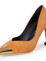 preiswerte -Damen Schuhe Kaschmir Frühling Komfort High Heels Stöckelabsatz Spitze Zehe für Normal Weiß Schwarz
