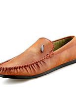 Недорогие -Муж. обувь Полиуретан Весна Осень Удобная обувь Мокасины и Свитер для Повседневные Черный Серый Коричневый
