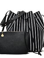 cheap -Women's Bags PU Bag Set Zipper for Casual All Seasons Blue Black Blushing Pink Gray
