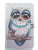 cheap -Case For Samsung Galaxy Tab A 10.1 (2016) Wallet with Stand Flip Pattern Auto Sleep/Wake Up Full Body Cases Owl Hard PU Leather for Tab A
