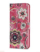 baratos -Capinha Para Samsung Galaxy S9 S9 Plus Porta-Cartão Carteira Com Suporte Flip Magnética Capa Proteção Completa Mandala Rígida PU Leather