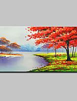 preiswerte -Handgemalte Abstrakt Landschaft Horizontal, Modern Hang-Ölgemälde Haus Dekoration Ein Panel