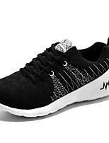 Недорогие -Муж. обувь Дышащая сетка Весна Осень Удобная обувь Кеды Беговая обувь для Повседневные Серый Синий Черно-белый