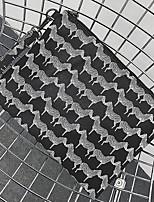 Недорогие -Муж. Мешки Полиуретан Клатч Молнии для Для шоппинга Повседневные Весна Лето Черный Черно-белый
