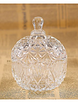 cheap -Circular Glass Favor Holder with Pattern / Print Favor Boxes - 1pc