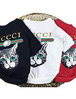 preiswerte -Hunde Pullover Hundekleidung Tiere Modisch Gute Qualität Zitate & Sprüche Tier Weiß Rot Schwarz Kostüm Für Haustiere