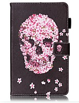 cheap -Case For Samsung Galaxy Tab E 8.0 Card Holder Wallet with Stand Pattern Auto Sleep/Wake Up Full Body Cases Skull Hard PU Leather for Tab