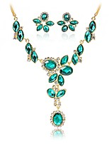 cheap -Women's Jewelry Set Bridal Jewelry Sets Alloy Simple Fashion Wedding Gift 1 Necklace Earrings Costume Jewelry