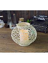 cheap -lantern shape iron electronic candlehholder