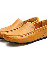 Недорогие -Муж. обувь Искусственное волокно Весна Осень Мокасины Мокасины и Свитер для Повседневные Черный Желтый Синий