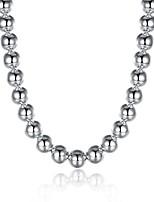 abordables -Homme Forme de Cercle Forme Mode Colliers chaînes , Plaqué argent Colliers chaînes Cadeau Quotidien Bijoux de fantaisie