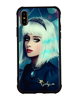 cheap -Case For Apple iPhone X iPhone 8 Shockproof Pattern Back Cover Cartoon Hard Tempered Glass for iPhone X iPhone 8 Plus iPhone 8 iPhone 7