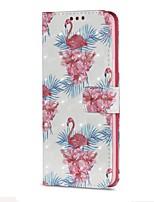 Недорогие -Кейс для Назначение SSamsung Galaxy S9 S9 Plus Бумажник для карт Кошелек со стендом Флип Магнитный Чехол Фламинго Твердый Кожа PU для S9