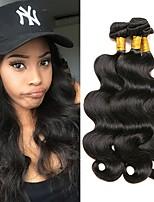 cheap -Brazilian Hair Body Wave Human Hair Weaves 3pcs 0.15
