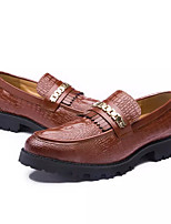 cheap -Men's Shoes Patent Leather Spring Fall Comfort Loafers & Slip-Ons for Casual Red Yellow Black