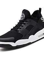 cheap -Men's Shoes Leatherette Tulle Spring Summer Comfort Sneakers for Casual Outdoor White Black Gray