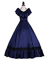 cheap -Renaissance Victorian Costume Adults' Dress Blue Vintage Cosplay Satin/ Tulle Sleeveless Cold Shoulder