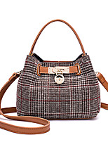 cheap -Women's Bags PU Denim Tote Zipper for Casual Office & Career All Seasons Black Brown