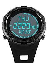 abordables -SKMEI Hombre Reloj de Moda Chino Digital Calendario Cronógrafo Resistente al Agua Reloj Casual Compás PU Banda Lujo Casual Cool Negro