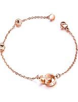 cheap -Women's Chain Bracelet Charm Bracelet Vintage Elegant Rose Gold Titanium Circle Infinity Jewelry Wedding Party Costume Jewelry