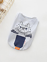 cheap -Dogs Sweatshirt Dog Clothes Casual/Daily Solid Animal Gray Costume For Pets