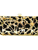 cheap -Women's Bags Metal Evening Bag Crystal Detailing for Wedding Event/Party All Seasons Gold Silver
