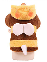cheap -Dogs Costume Dog Clothes Cute Style Warm Ups Striped Animal Yellow Costume For Pets