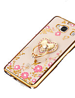 cheap -Case For Huawei P9 Shockproof Rhinestone with Stand Back Cover Flower Soft Silicone for Huawei P9