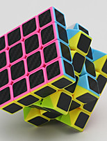 cheap -Rubik's Cube Carbon Fiber Stone Cube 4*4*4 Smooth Speed Cube Magic Cube Puzzle Cube Relieves ADD, ADHD, Anxiety, Autism Office Desk Toys