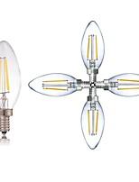 Недорогие -5 шт. 2 Вт. 180LM lm E14 LED лампы накаливания C35 2 светодиоды COB Диммируемая Декоративная Светодиодные фонарики Тёплый белый Холодный