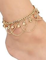 Недорогие -Жен. Ножной браслет - Богемные, Мода Бижутерия Золотой Назначение Подарок Праздники
