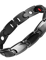 preiswerte -Herrn Ketten- & Glieder-Armbänder Hologramarmband , Magnetisch Freizeit Edelstahl Kreisform Schmuck Normal Alltag Modeschmuck Schwarz